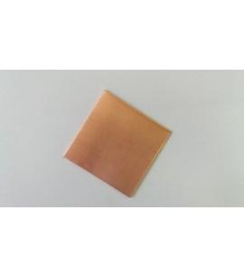 160020- CHAPA DE COBRE 1MM X 50 X 50MM